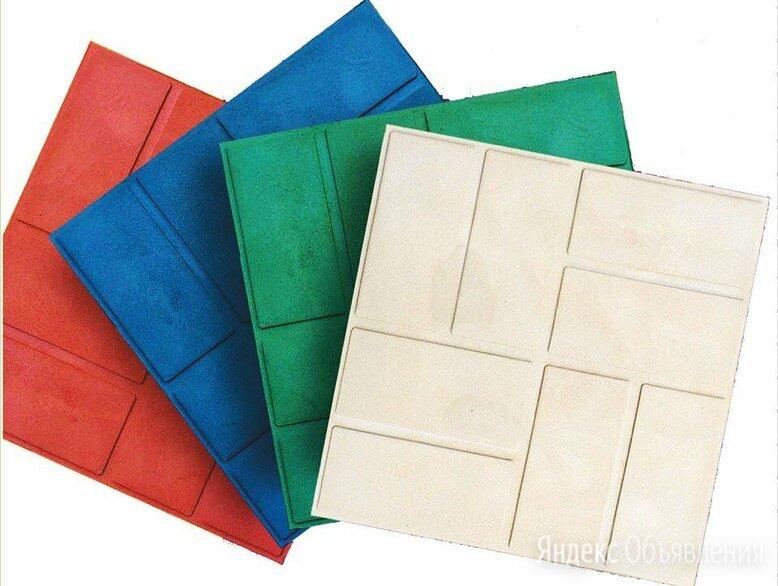 плитка полимерпесчаная 250х250х20  по цене 40₽ - Садовые дорожки и покрытия, фото 0