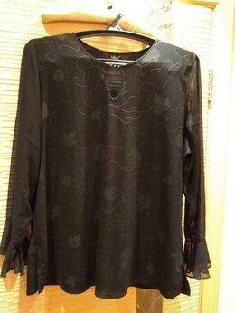 Блузки и кофточки - Блуза с шифоновыми рукавами, разм.52-54, 0