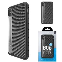 Чехлы - Чехол Apple iPhone X/Xs DOTFES G06 пластик черный, 0