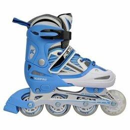 Роликовые коньки - Раздвижные роликовые коньки Kepai подсветка колес, 0