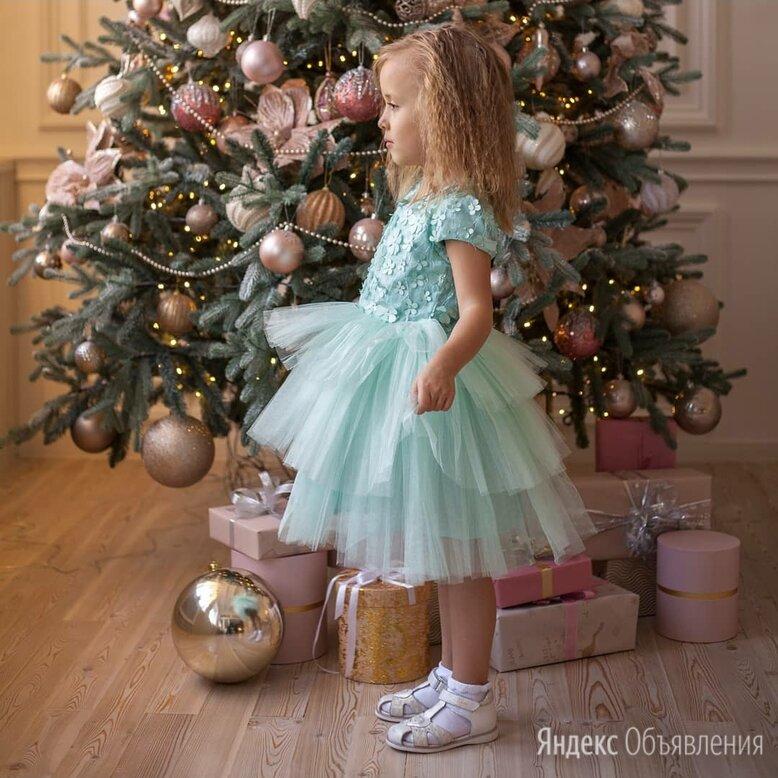 Платье мятное пышное 98см по цене 1690₽ - Платья и сарафаны, фото 0