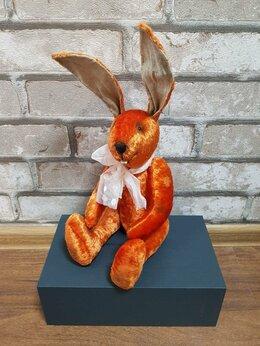 Мягкие игрушки - Плюшевый заяц. Мягкая игрушка ручной работы из…, 0