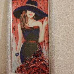 """Картины, постеры, гобелены, панно - Картина бисером """"Дама в шляпе"""", 0"""