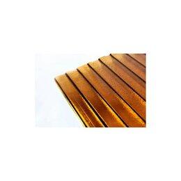 Поликарбонат - Сотовый поликарбонат Колотый лед коричневый   CARBOGLASS Премиум 2,1х6м, 8 мм.(1, 0