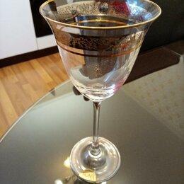Бокалы и стаканы - Набор фужеров для вина Rona Флора Узкая Платина, 0
