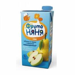 Продукты - Сок детский Фруто няня яблоко и груша 500 г, 0