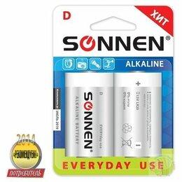 Батарейки - Батарейка D (R20) SONNEN,комплект 2 шт.,…, 0