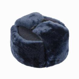 Головные уборы - Шапка - ушанка МВД (овчина, сукно) темно-синяя, 0