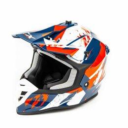 Мотоэкипировка - Шлем мото кроссовый GTX 633 (XL) #3 BLUE/RED WHITE, 0