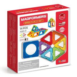 Конструкторы - Магнитный конструктор magformers Basic Plus 14 set, 0