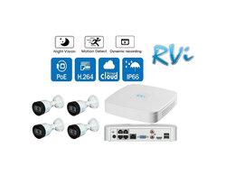 Готовые комплекты - Видеонаблюдения на 4 камеры RVI (2mp IP-POE), 0
