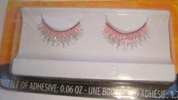 Для глаз - Накладные ресницы розовые с блеском, 0