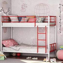 Кровати - Двухъярусная кровать Севилья-2.01 комби (белый/красный), 0