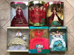 Куклы и пупсы - Новогодние куклы Барби 90х, Mattel, 0