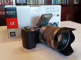 Фотоаппараты - Ультракомпактная фотокамера Sony NEX-5D +…, 0