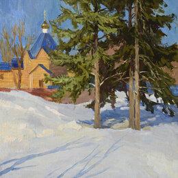 """Картины, постеры, гобелены, панно - Картина """"Вид на часовню Спасского кафедрального собора.Пенза"""", 0"""