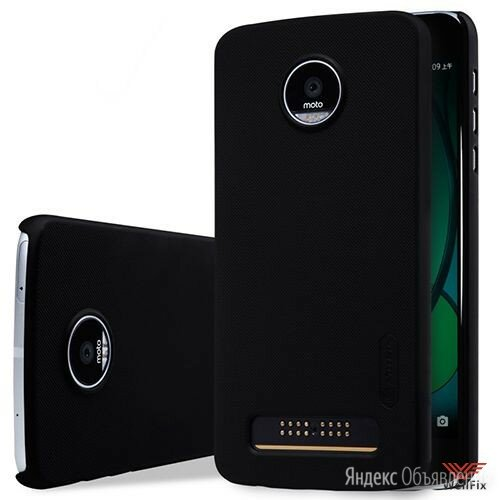 Пластиковый чехол для Motorola Moto Z Play черный (Nillkin) по цене 400₽ - Чехлы, фото 0