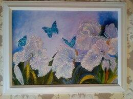 Картины, постеры, гобелены, панно - Картина Цветы (пейзаж Волшебный сад, бабочки)…, 0