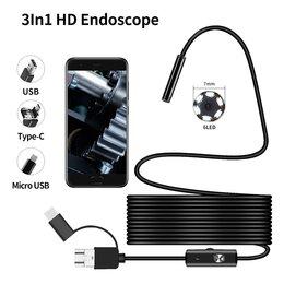 Микроскопы - Эндоскоп 3 в 1 для Android, 7 мм,  ПК, 0