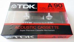 Музыкальные центры,  магнитофоны, магнитолы - TDK - A 90 - Acoustic Cassette - Type I - Кассета, 0