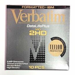 Диски - 10 дискет Verbatim 5,25 новые в упаковке, 0