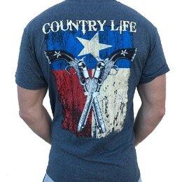 Футболки и майки - Футболка Country Life Flag and Guns, 0