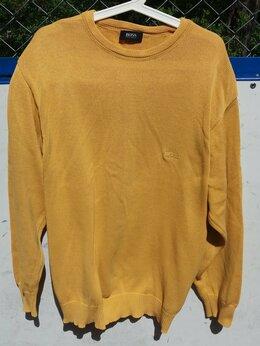 Свитеры и кардиганы - Желто-горчичного цвета,хлопковый свитер Hugo…, 0