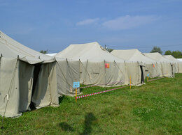 Палатки - Палатка уст-56 с конверсионными повреждениями, 0