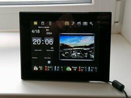 Цифровые фоторамки и фотоальбомы - Фоторамка Digma PFWS-807 с часами., 0