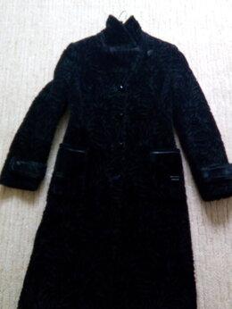 Пальто - Пальто нарядное с блеском под нерпу, 0