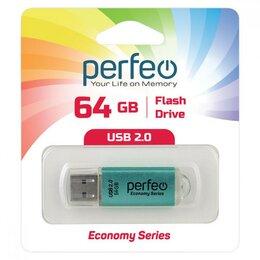 USB Flash drive - Флэшка 64Gb USB 2.0 Perfeo E01 Green, зеленый цвет, 0