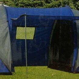 Палатки - палатка кемпинговая турист-1699 4-мест 2-комнатная с тамбуром навесом, 0