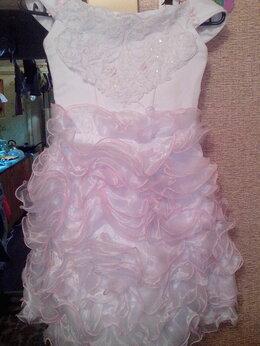 Платья и сарафаны - Платье бело-розовое нарядное детское, 0