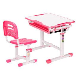 Компьютерные и письменные столы - Растущая парта и стул EVO-06 белая, розовая, 0