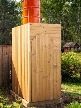 Души - Дачный летний душ, деревянная душевая кабина,…, 0