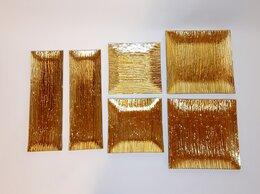 Тарелки - Тарелки квадратные золотые 6 шт. Азбука вкуса, 0