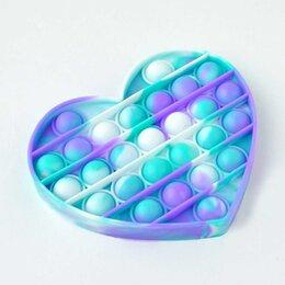Игрушки-антистресс - Вечная пупырка антистресс Pop It пузырь Bubble Fidget сердце, 0