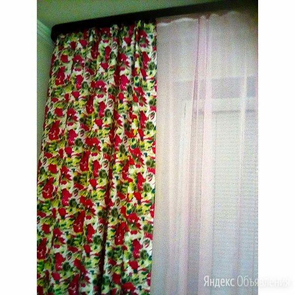 Комплект штор с принтом «Розы». по цене 2500₽ - Шторы, фото 0