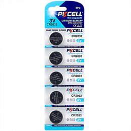 Аксессуары и запчасти для оргтехники - Литиевый элемент питания PKCELL CR2032-5B тип - CR, 0