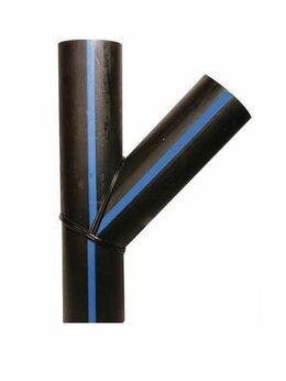 Водопроводные трубы и фитинги - Тройник сварной 45°-60° Y-образный ПЭ100 Ø 315…, 0