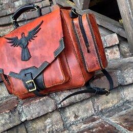 Дорожные и спортивные сумки - Кожаный ранец (юфть шорно- седельная), 0