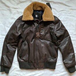 Куртки - 031 G-Star Raw Bollard Leather Bomber, 0
