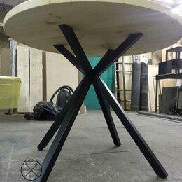 Столы и столики - Стол в стиле Лофт со столешницей из бруса, 0