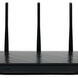 Оборудование Wi-Fi и Bluetooth - Беспроводной роутер Asus RT-N18U USB 3.0/2.0 600Mbs, 0