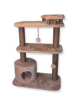 Когтеточки и комплексы  - Домик-Когтеточка для кошек (Комплекс)  «КАПРИЗ» , 0