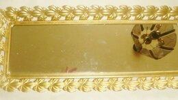 Подносы - Поднос для туалетного столика с зеркалом бронза…, 0