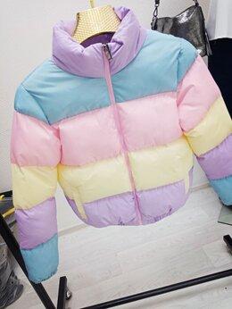 Пуховики - Куртка зефирка Rainbow (S-2XL) Арт.215W, 0