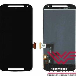 Дисплеи и тачскрины - Дисплей для Motorola Moto G Gen.2 в сборе черный, 0