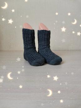 Носки - Вязаные детские носочки  (ручной работы) , 0