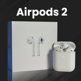 Наушники и Bluetooth-гарнитуры - Airpods 2 копия / Аирподс 2 реплика , 0